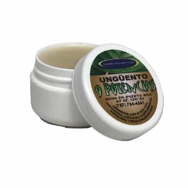 9 Potencias Balm for pain relief with 9 essential oils prepared by caribbean soaps made in Puerto rico