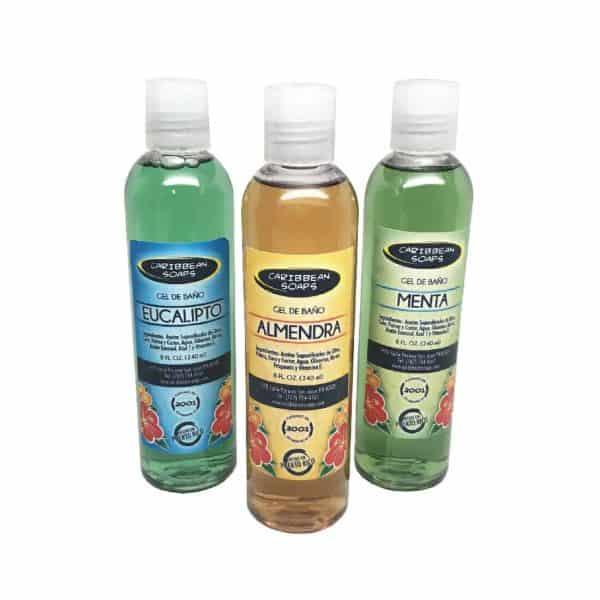 Gel de Bano de Castilla hecho con aceite de oliva sin detergentes sintéticos preparado por caribbean soaps hecho en puerto rico 8 oz