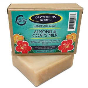 Almond and goat milk best luxury soap bar handmade soap from Caribbean soaps Puerto Rico 4.25 oz