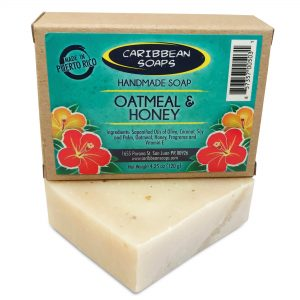 Oatmeal and honey handmade soap 4.25 oz From Caribbean Soaps in Puerto Rico