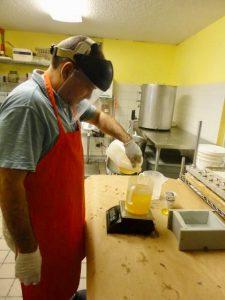 Making handmade soaps at soap shop Caribbean soaps puerto rico