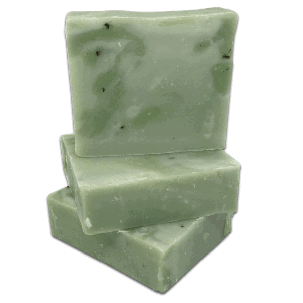 Stack of Peppermint handmade soap from Caribbean soaps Made in Puerto Rico a refreshing soap 4.25 oz
