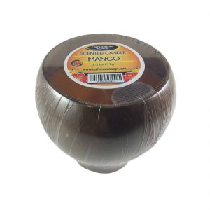 Coconut Cup Candle made with a real polished coconut shell prepared by caribbean soaps made in puerto rico 5 oz