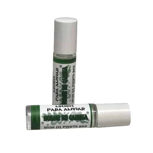 Headache Relief Lotion Natural relief roll-on with essential oils lavender and peppermint prepared by caribbean soaps made in puerto rico 1/3 oz.