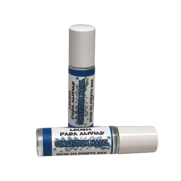 Locion de Congestion Nasal Roll-on remedio natural para la congestion con aceites esenciales de eucalipto y menta hecho en puerto rico por caribbean soaps 1/3 oz