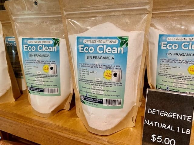 Eco Clean Natural Laundry Detergent Powder made in puerto rico by caribbean soaps 1 pound pouch