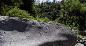 piedra escrita written stone hieroglyphics Jayuya Puerto Rico