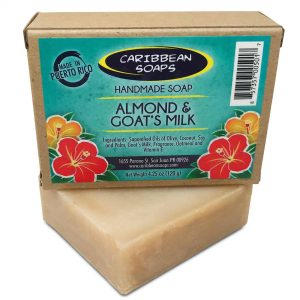 Handmade Almond Soap and Goat Milk Best Luxury Soap Soap Prepared by Caribbean Soaps and Made in Puerto Rico 4.25 ounces