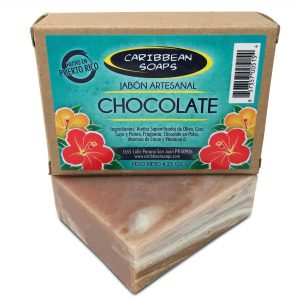 chocolate handmade soap with cocoa butter made by Caribbean soaps 4.25 ounces made in puerto rico