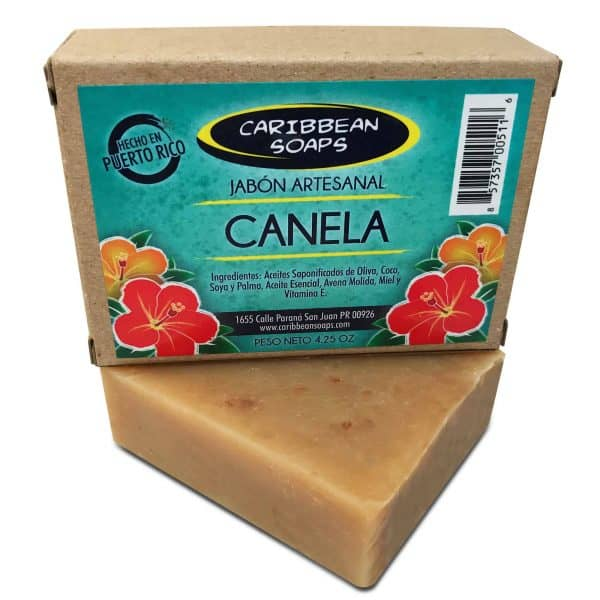 Cinnamon handmade soap 4.25 ounces From Caribbean Soaps made in Puerto Rico