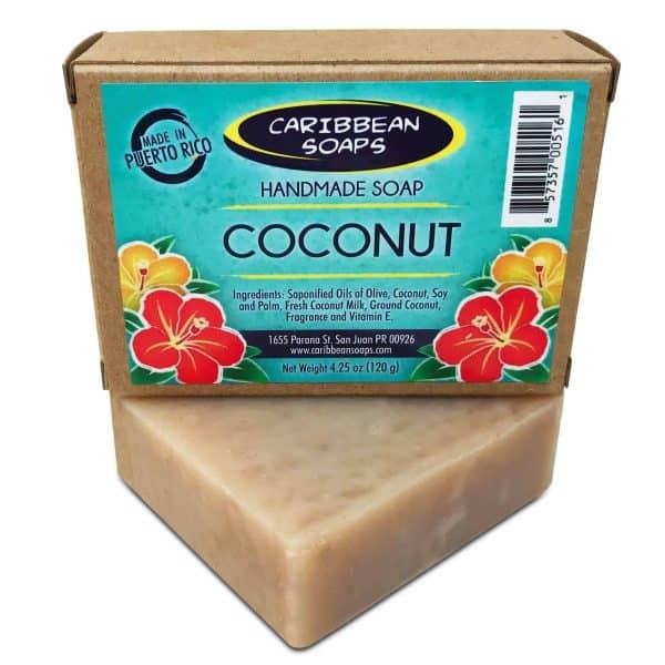 Jabón hecho a mano de coco caribbean soaps caribeños Puerto Rico 4.25 oz