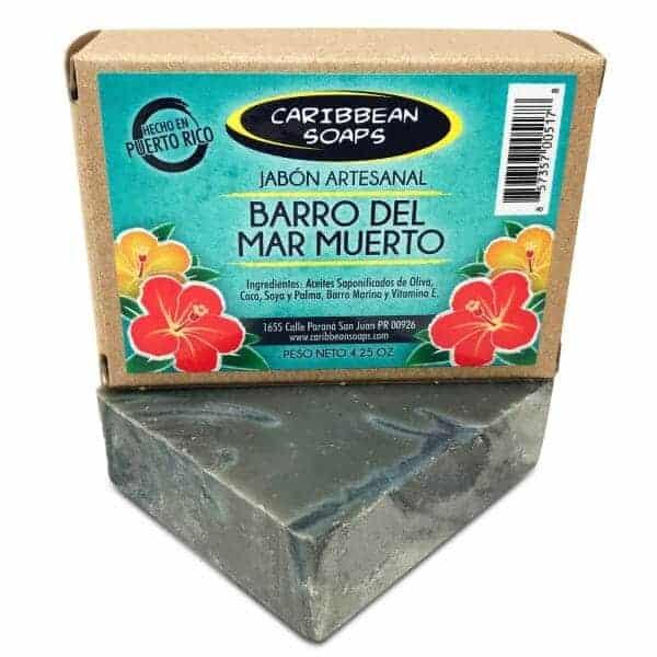 jabon artesanal detox de barro del mar muerto hecho en puerto rico por caribbean soaps 4.25onzas