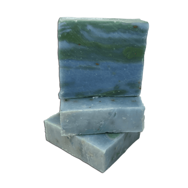 Stack Eucalyptus and rosemary handmade soap from Caribbean soaps made in Puerto Rico 4.25 ounces