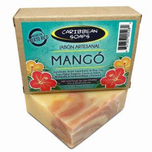 Jabón artesanal de mango 4.25 oz de Caribbean Soaps hecho en Puerto Rico