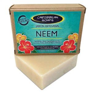 jabón artesanal de neem hecho en Puerto Rico 4.25 onzas preparado por Caribbean Soaps