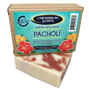 Jabón artesanal de pacholí hecho en Puerto Rico 4.25 onzas preparado por Caribbean Soaps