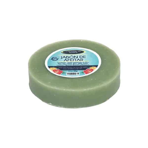 Shaving handmade soap 3.5 ounces prepared by Caribbean Soaps made in in Puerto Rico