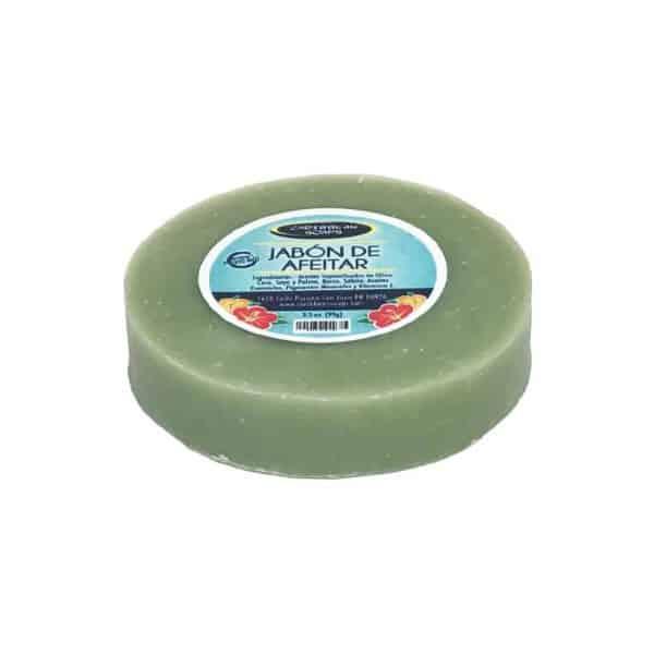 Jabón artesanal de afeitar 3.5 onzas preparado por Caribbean Soaps hecho en Puerto Rico