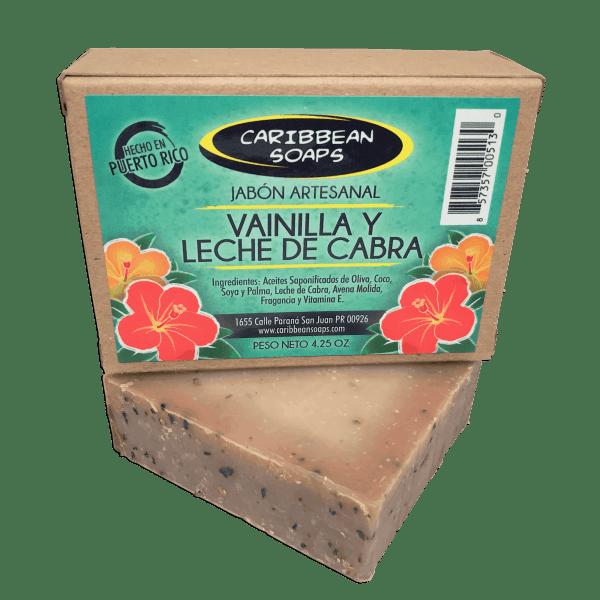 handmade soap vanilla and goat milk moisturizing made in puerto rico 4.25 ounces