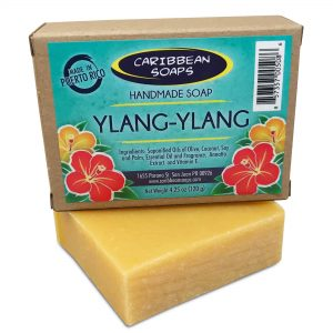 Ylang Ylang handmade soap prepared by caribbean soaps made in puerto rico 4.25 ounces scientific name cananga odororata