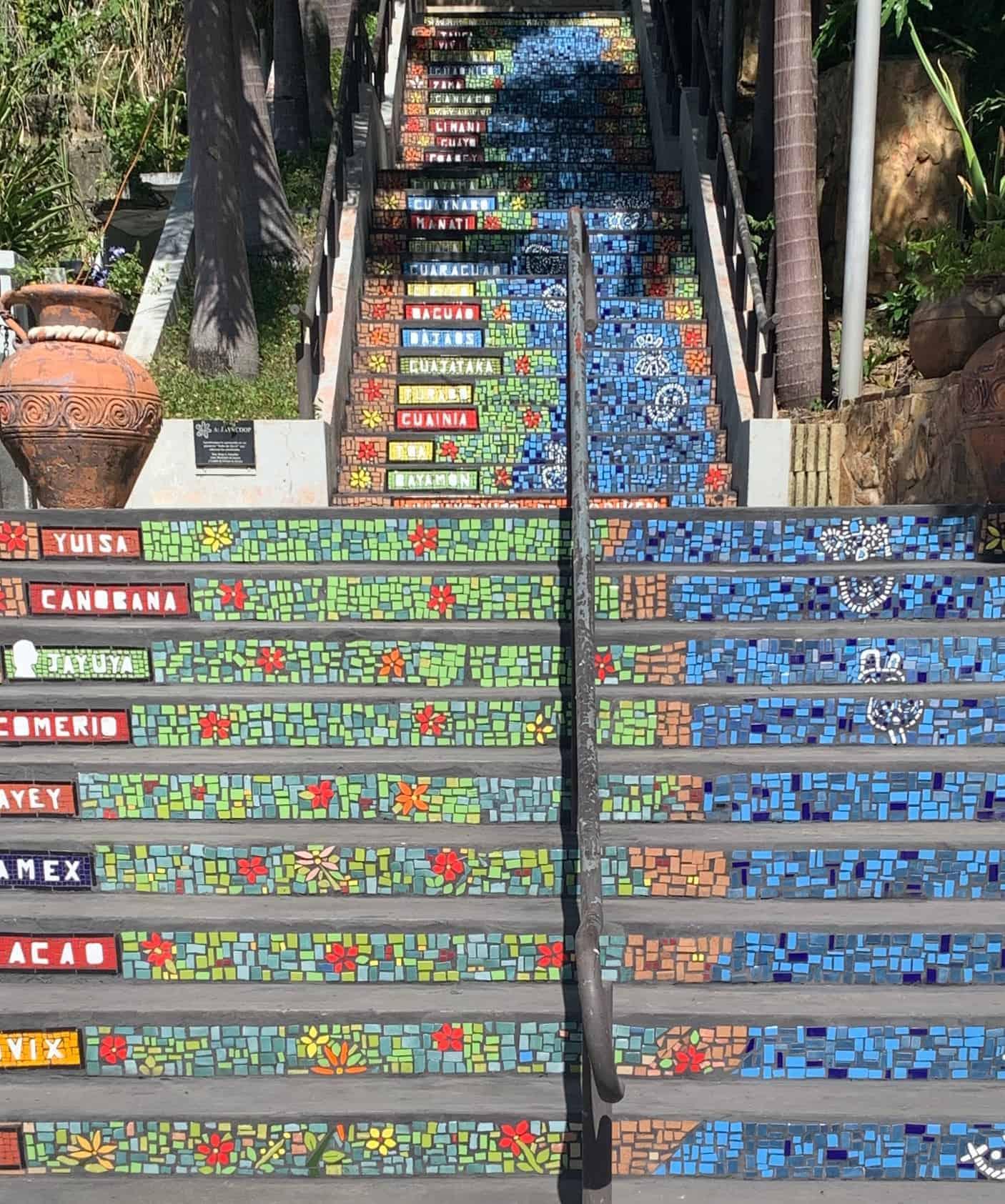 Mosaic stairway to Centro Cultural Jayunano Puerto Rico