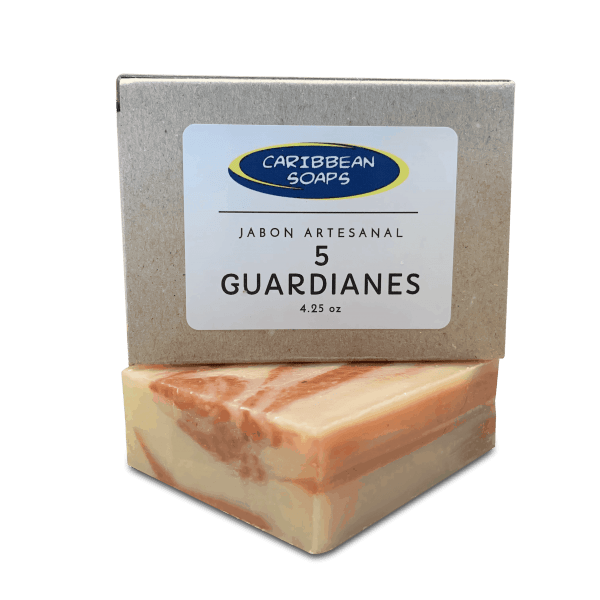 5 guardians handmade soap 4.25 oz prepared by Caribbean soaps made in puerto rico
