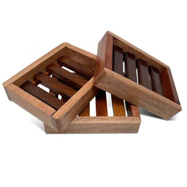 Set-artisanal-wooden-soap-dish