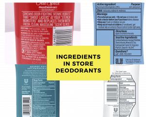 list of ingredients in store deodorants