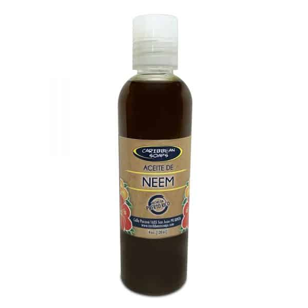 100% natural cold pressed neem oil empacado por caribbean soaps hecho en puerto rico 4 ounces