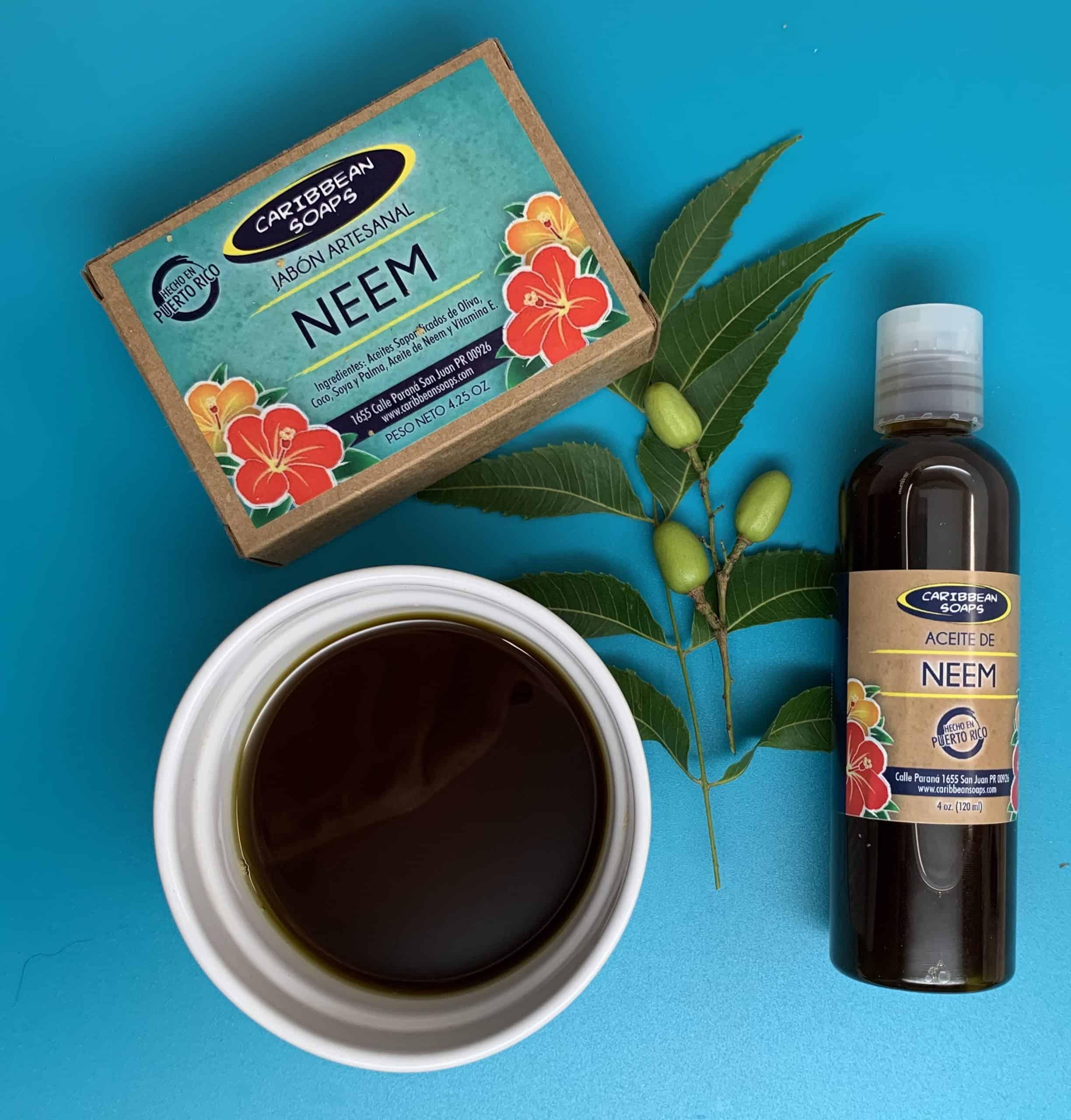 jabon artesanal y aceite de neem hecho en puerto rico por caribbean soaps
