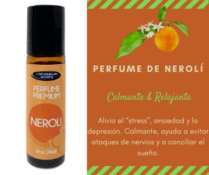 perfume neroli en roll on calmante y relajante
