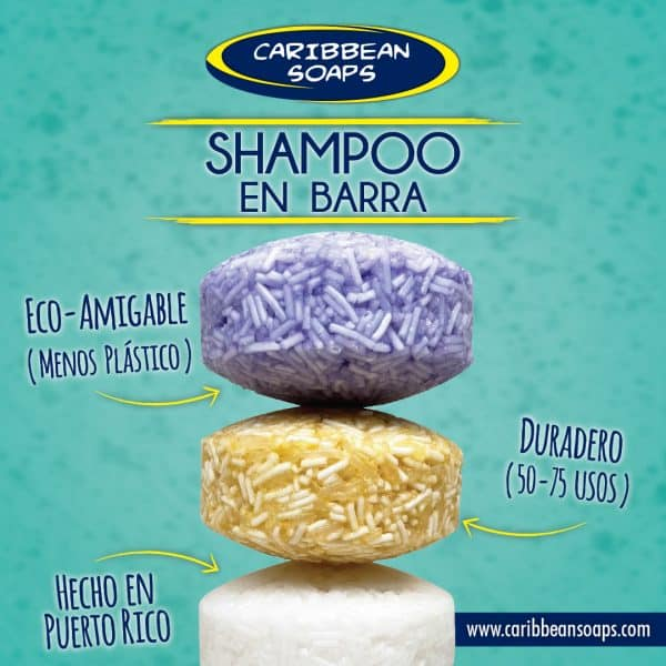 shampoo bar 2.5 oz made in puerto rico by caribbean soaps